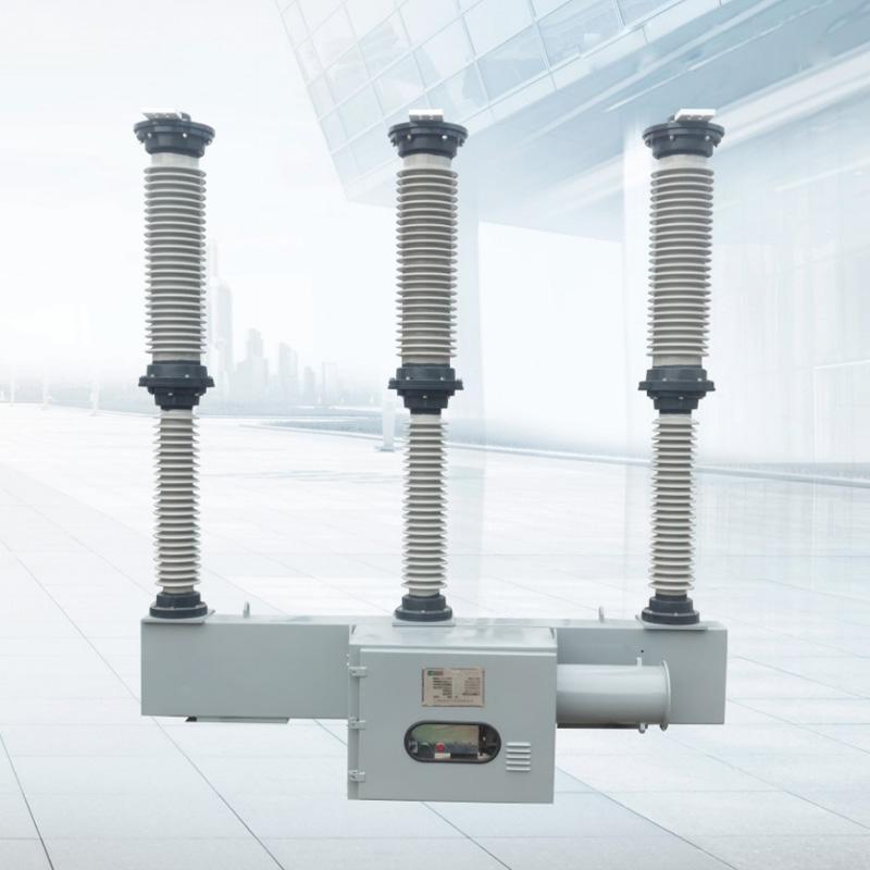 LW30-40.5kV六氟化硫断路器外形及安装示意图..